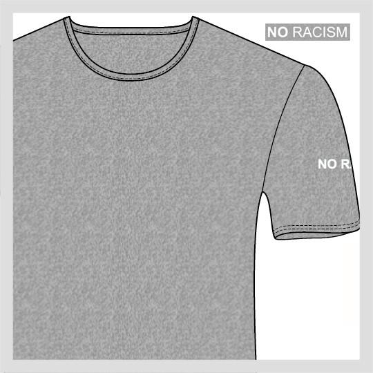 NO RACISM T-Shirt mit Rundhalsausschnitt