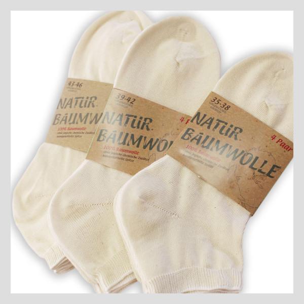 100% Natur Baumwolle Kurzschaft Socken