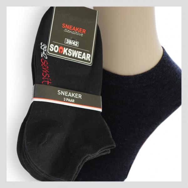 Sneaker Socke - Schwarz