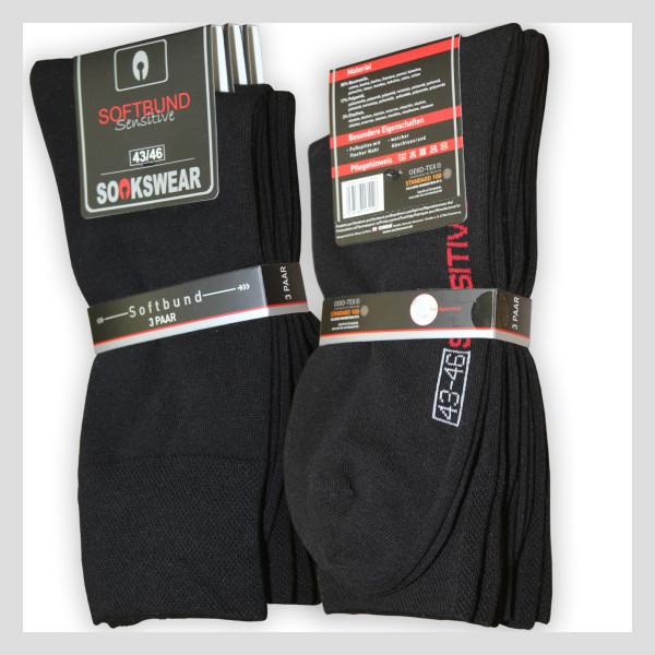 Schwarze Baumwoll Socken