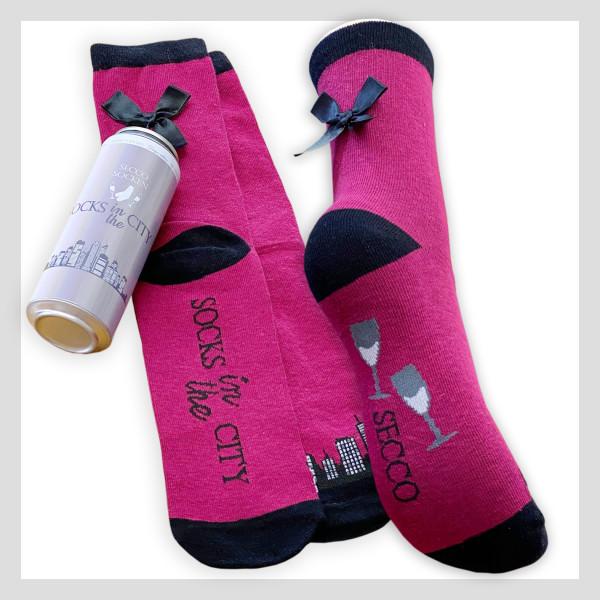 Socke in Prosecco Spardose