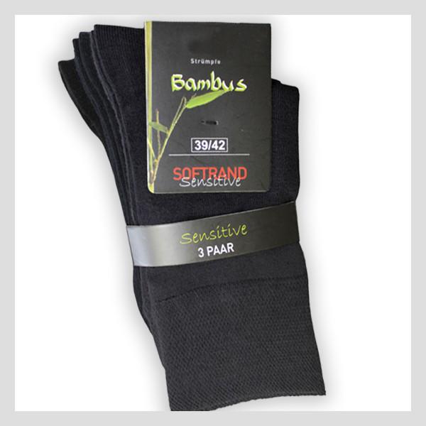 Bambus-Viskose-Socke mit Softbund (sehr weich)