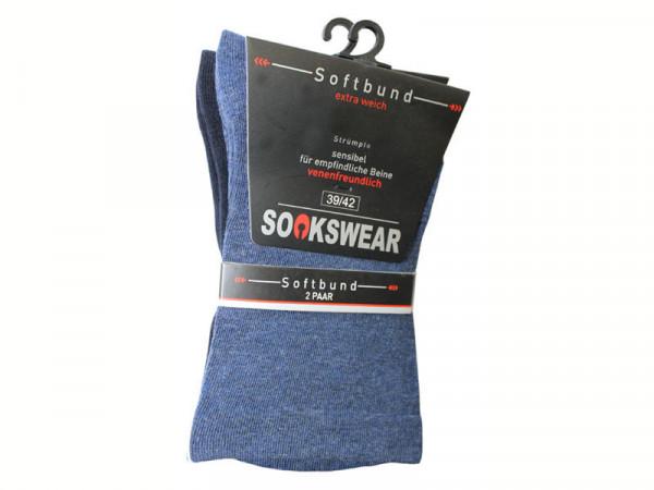 V-Schaft Socke mit druckfreiem Abschlußrand
