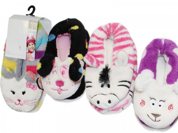 KIDS Home Slipper mit Tierkopf Applikation