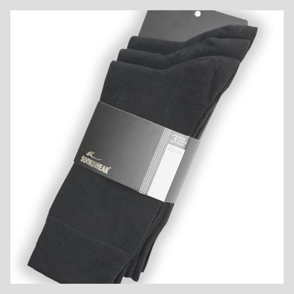 Socke mit Piquee-Abschlussbund