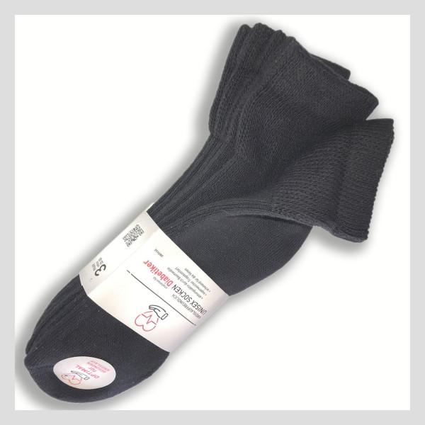 Diabetiker Kurzschaft Socke 3er Pack - Sockswear