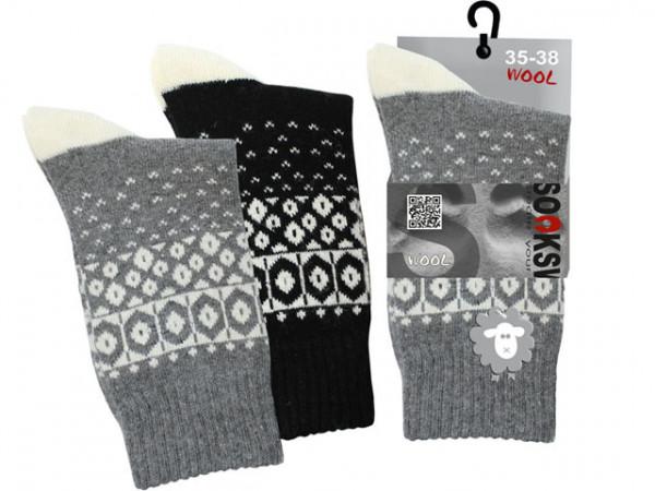 Norweger Natur Socke