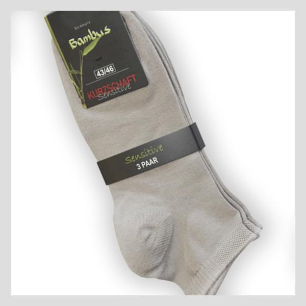 Kurzschaft Socke aus super weicher Bambusfaser